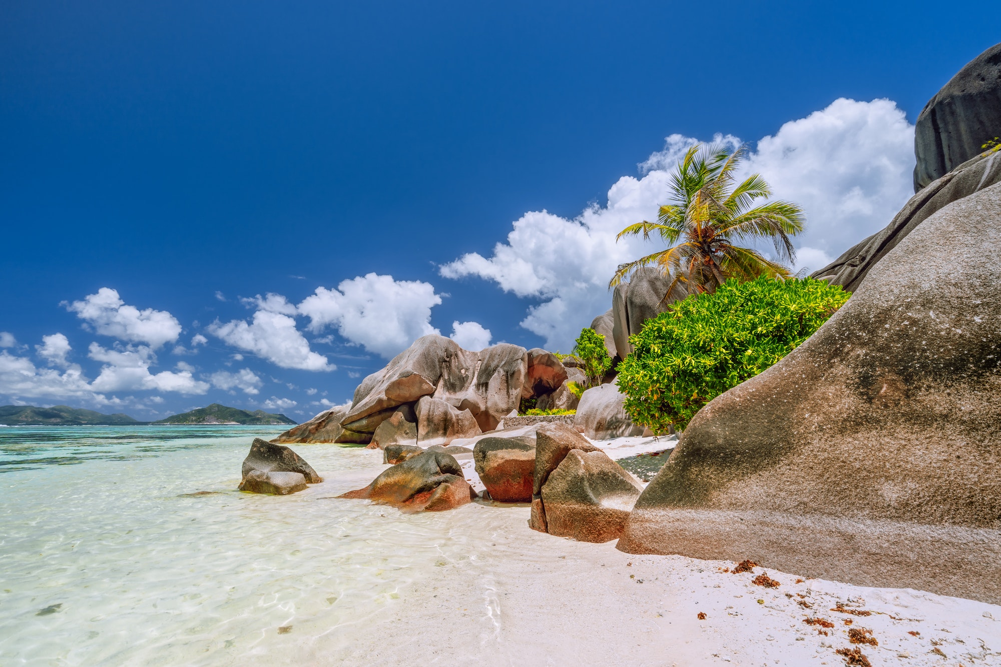 Anse Source d'Argent. Paradise exotic beach on island La Digue in Seychelles